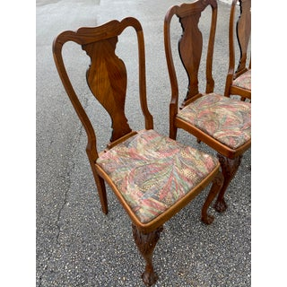 20th Century Queen Anne Henke Harris Style Dining Chairs- Set of 4 Preview