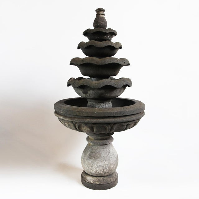 Asian Lava Stone Garden Fountain For Sale - Image 3 of 3