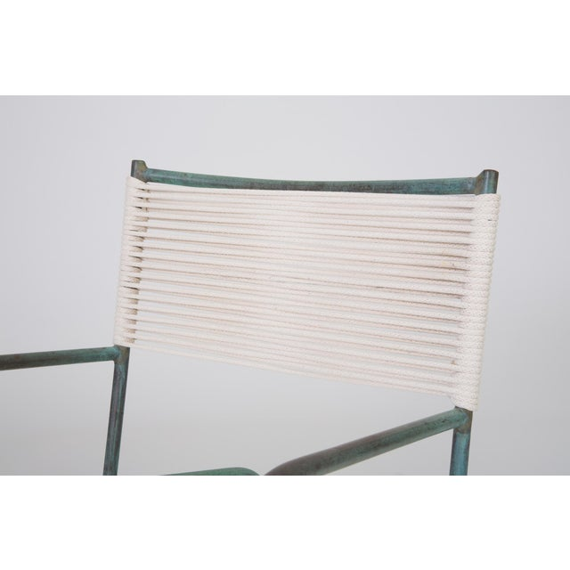 Turquoise Early Model Walter Lamb Patio Rocking Chair For Sale - Image 8 of 11