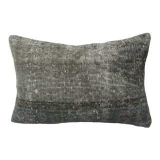 Turkish Vintage Kilim Gray Decorative Pillow Cover For Sale