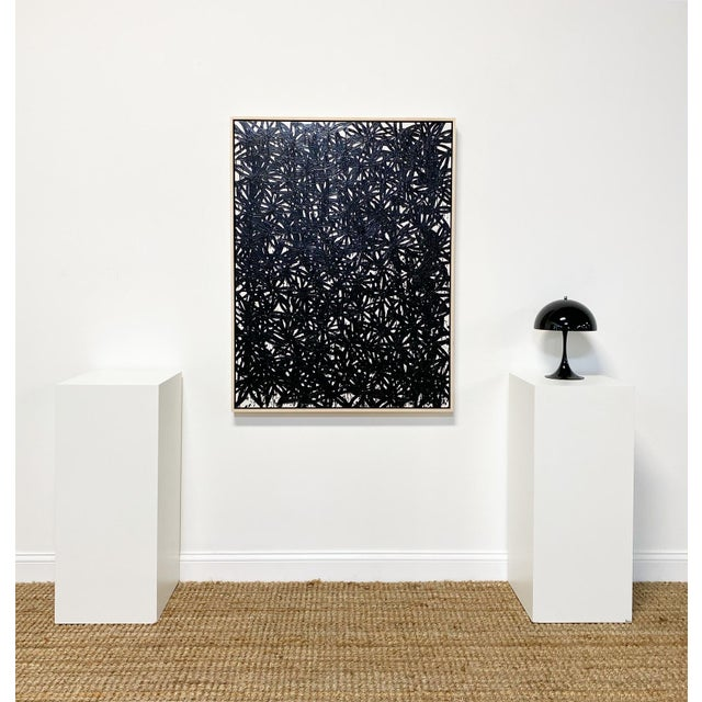 In Daisies series. Art Dimensions: 36 x 48 h inches Framed Dimensions: 37.5 x 49.5 inches. Beautiful, custom maple float...