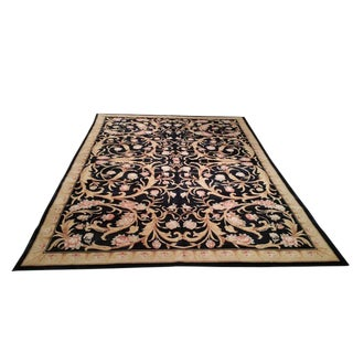Aubusson Design Handmade Rug - 8x11 - Size Cat. 8x10 9x12 For Sale