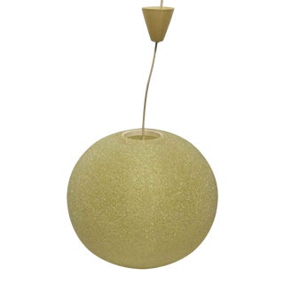 Mid Century Pale Yellow French Arctic Ball Light For Sale