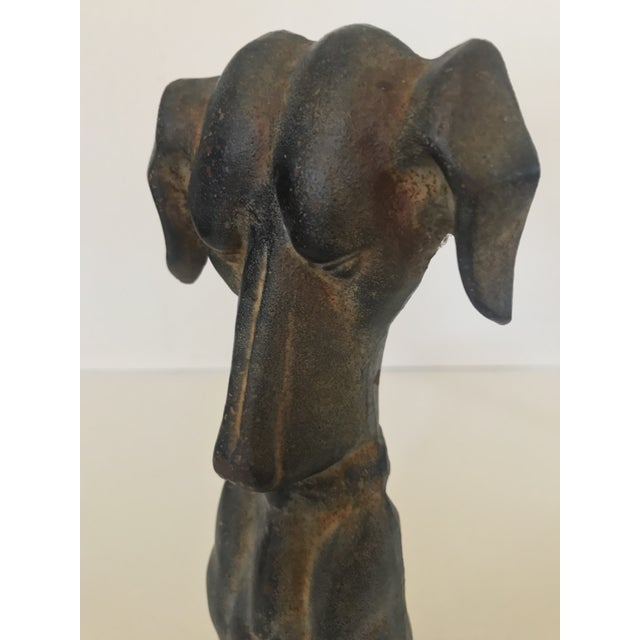 American 1980s Cast Iron Hound Dog Doorstop For Sale - Image 3 of 12