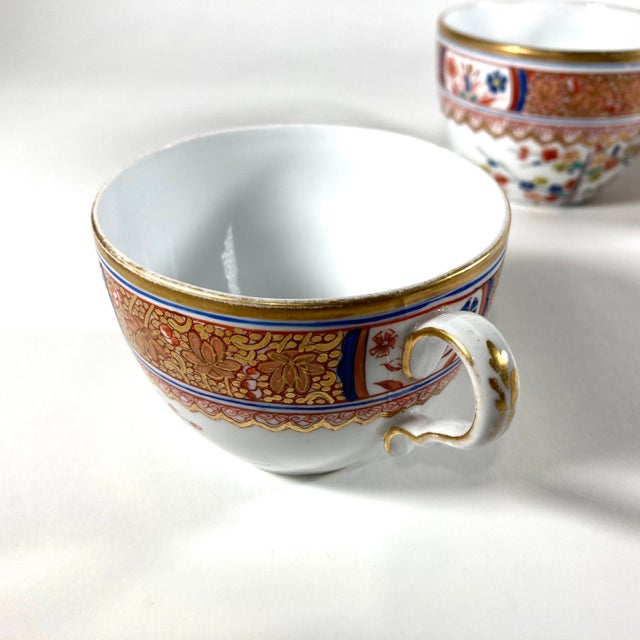 """Spode Early 19th Century English Georgian Spode """"Kakiemon"""" Tea / Coffee Cups and Saucers - Set of 6 For Sale - Image 4 of 8"""