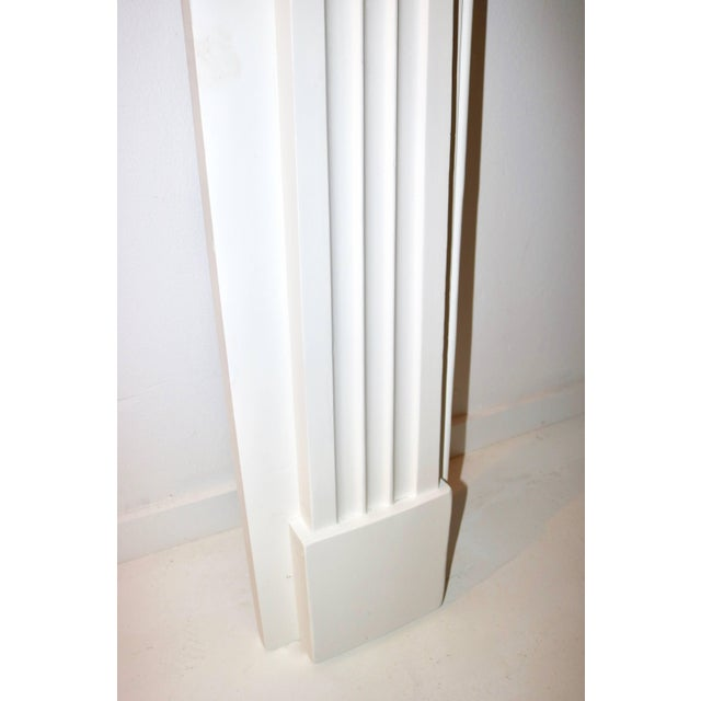 White Restored 19th C. Greek Revival White Primed Fireplace Mantel Mantle For Sale - Image 8 of 11