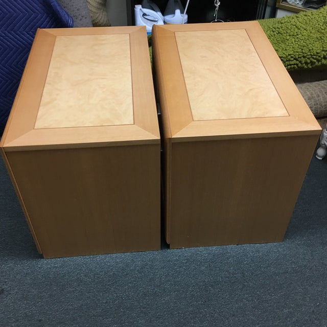 Custom Maple Nightstands - A Pair - Image 9 of 10