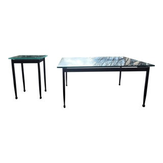 20th Century Minimalist Charleston Forge Coffee and Side Tables - a Pair For Sale