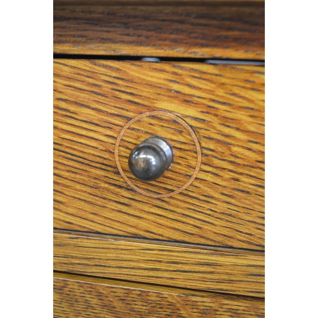 Stickley Mission Oak Harvey Ellis Storage Inlaid Coffee Cocktail Table For Sale - Image 10 of 10