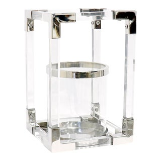 Pasargad Home Soren Stainless Steel & Lucite Lantern Small For Sale