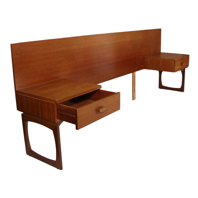 G Plan Mid Century Teak Queen Size Headboard by G Plan For Sale - Image 4 of 11