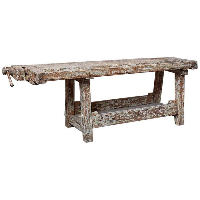 19th Century French Etabli Carpenter's Work Bench For Sale - Image 13 of 13