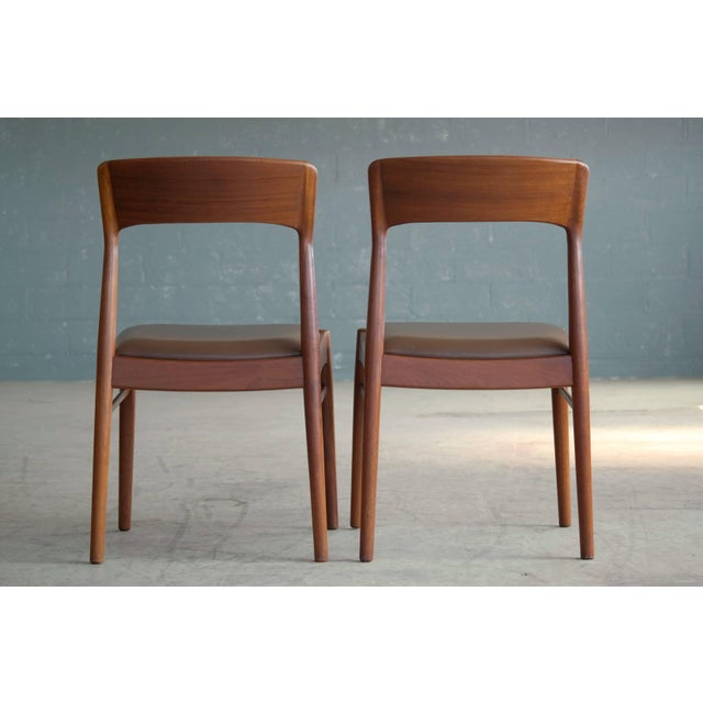 1960s Set of Six Dining Chairs in Teak by Kai Kristiansen for k.s. Mobler Denmark, 1960s For Sale - Image 5 of 10