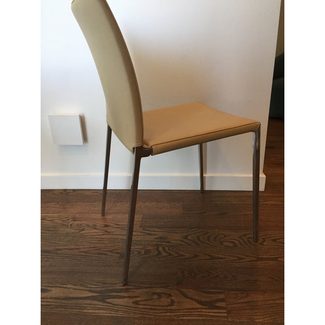 Zanotta Lia Chair in Leather For Sale - Image 5 of 7