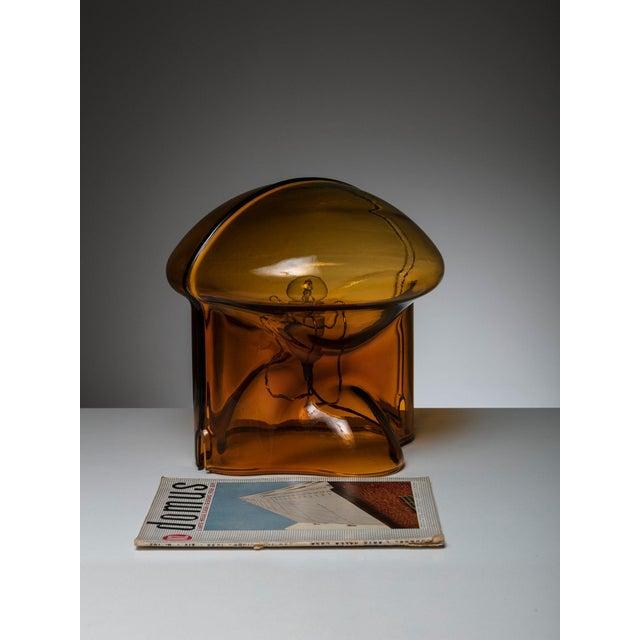 "Orange ""Medusa"" Table Lamp by Umberto Riva for VeArt For Sale - Image 8 of 9"