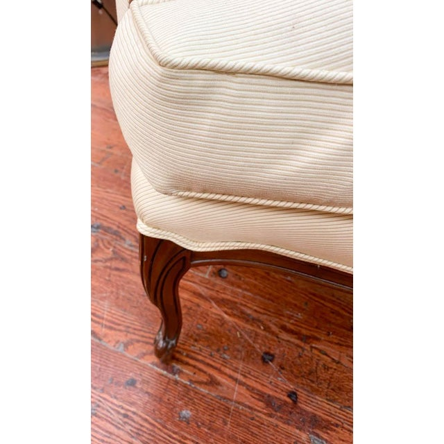 Mid 20th Century Pair of French Arm Chairs With Bow Tie Ottoman For Sale - Image 5 of 10