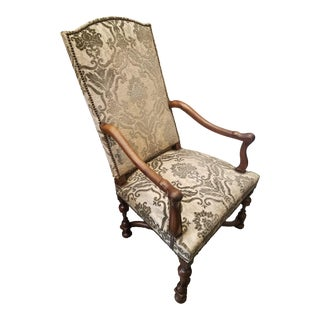 18th Century French Walnut Armchair For Sale