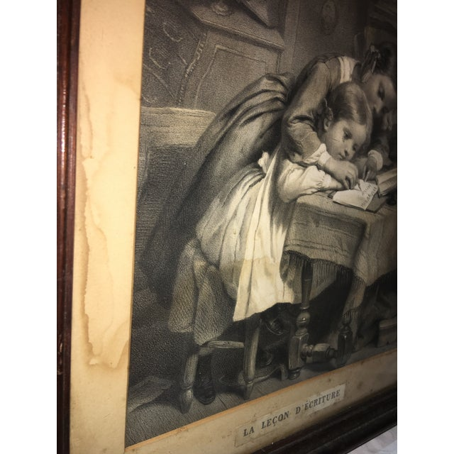 "19th Century ""The Writing Lesson"" Lithograph - Image 11 of 11"