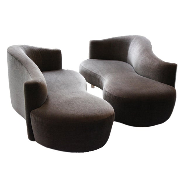 Charcoal Weiman Furniture Vladimir Kagan Sofas - a Pair For Sale - Image 8 of 8