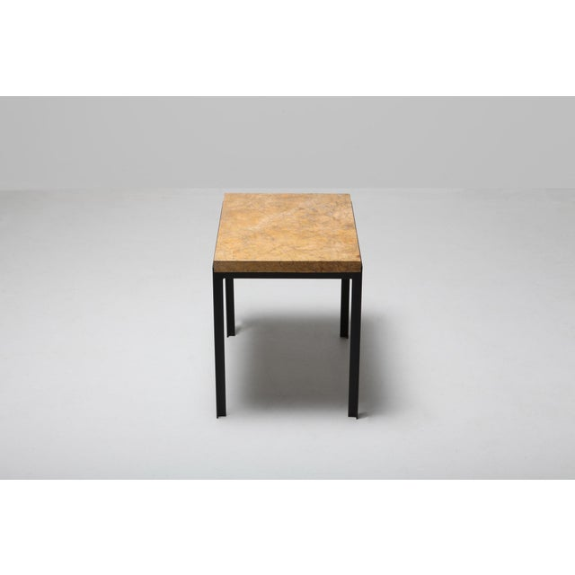 Florence Knoll Florence Knoll Marble & Black Steel Side Tables For Sale - Image 4 of 10