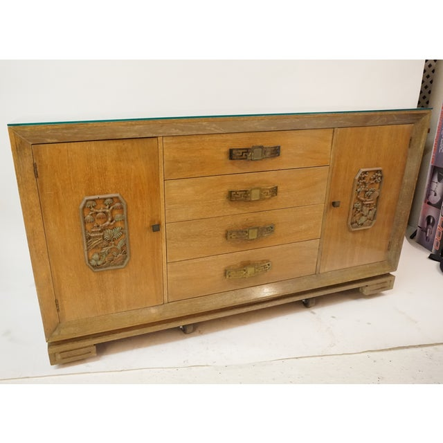 Asian James Mont Style Asian Mid-Century Modern Sideboard For Sale - Image 3 of 8