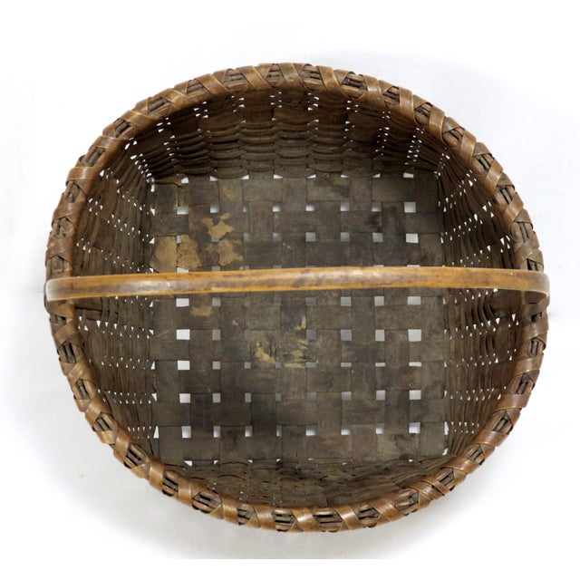 20th Century Rustic Maine Woven Basket For Sale In Boston - Image 6 of 13