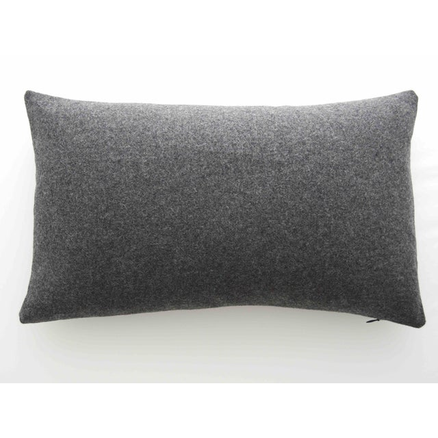 Italian Gray Sustainable Wool Lumbar Pillow - Image 6 of 6