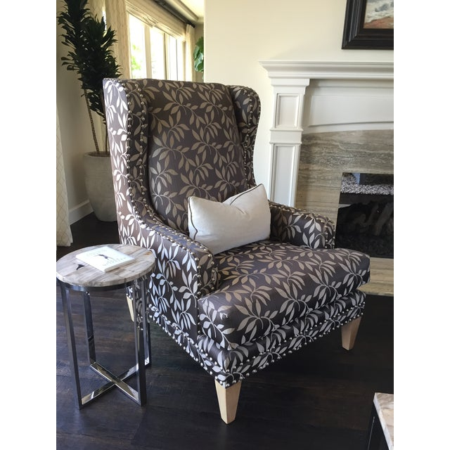 Contemporary Custom Gray Club Chairs - A Pair - Image 4 of 6