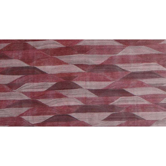 "Hand Knotted Modern Kilim by Aara Rugs Inc. - 13'3"" X 9'11"" For Sale - Image 4 of 4"