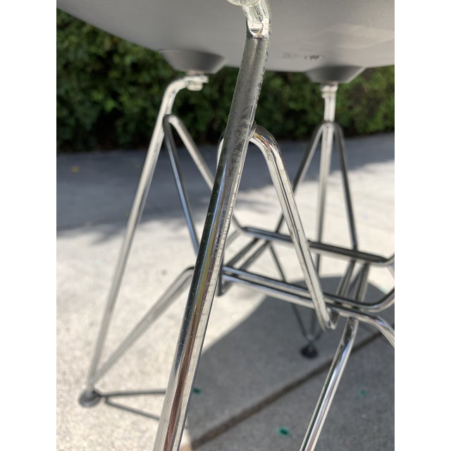 Mid-Century Modern Black Eames Molded Plastic Side Chairs- Set of 4 For Sale - Image 3 of 9