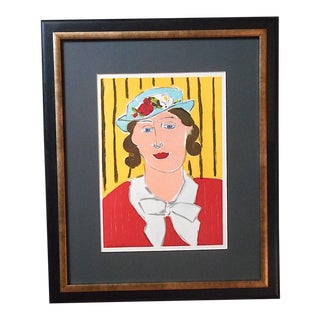 Vintage Mid 20th C. Ltd. Ed Lithograph From Verve-Henri Matisse-1939-Framed For Sale