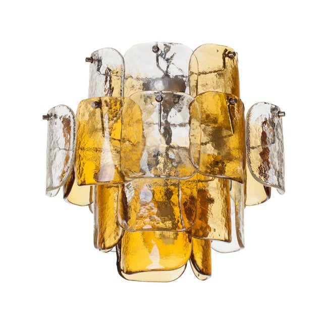 Mazzega Four-Tier Glass Petal Chandelier For Sale In New York - Image 6 of 6