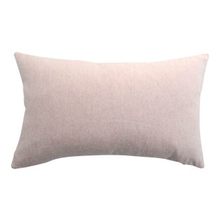 FirmaMenta Italian Soft Virgin Wool Pink and White Lumbar Pillow For Sale