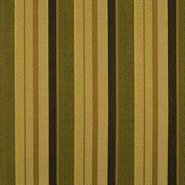 A multi-textural woven brocade in a variegated stripe, coordinates with Fleur de Plume jacquard in Peridot (also available...
