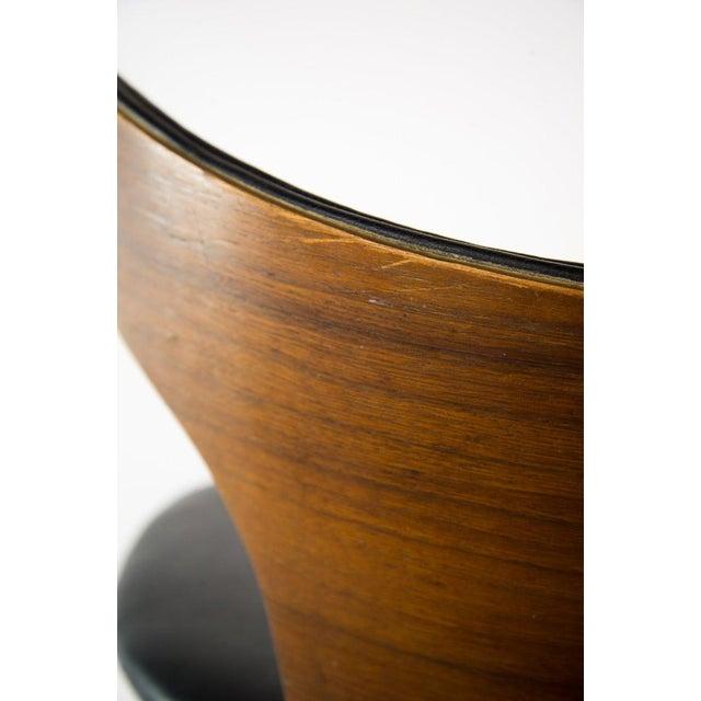 Seymour James Wiener for Kodawood Mid-Century Vinyl Swivel Barstools - A Pair For Sale In Atlanta - Image 6 of 13