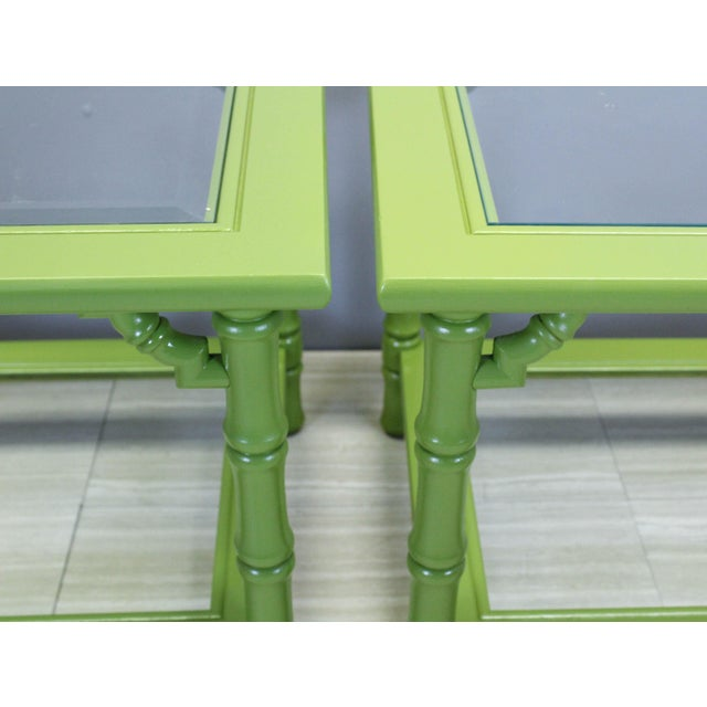 Mersman Green Lacquered Side Tables - A Pair For Sale - Image 4 of 9