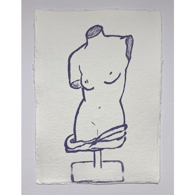 Lindsey Weicht Female Sculpture No. 1 Drawing For Sale - Image 4 of 5