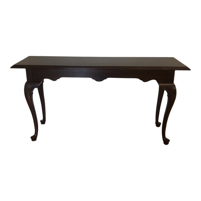 Prime 1980S Ethan Allen Georgian Court Cherry Console Table Interior Design Ideas Inesswwsoteloinfo