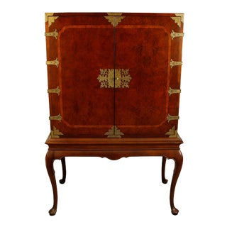 English and Asian Influenced Media Cabinet For Sale