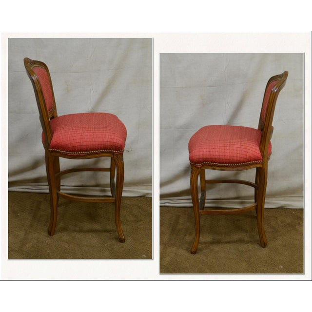 *STORE ITEM #: 18117-ax French Louis XV Style Set of 4 Bar Stools by Pama Furniture AGE / ORIGIN: Approx. 25 years,...