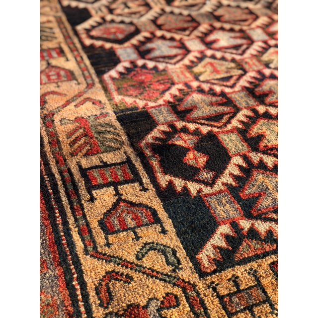 1950s 1950s Vintage Persian Meshkin Runner Rug - 3′10″ × 13′2″ For Sale - Image 5 of 13