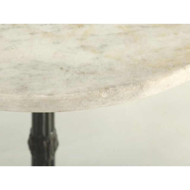 1930s French Bistro Table With Cast Iron Base For Sale - Image 5 of 11