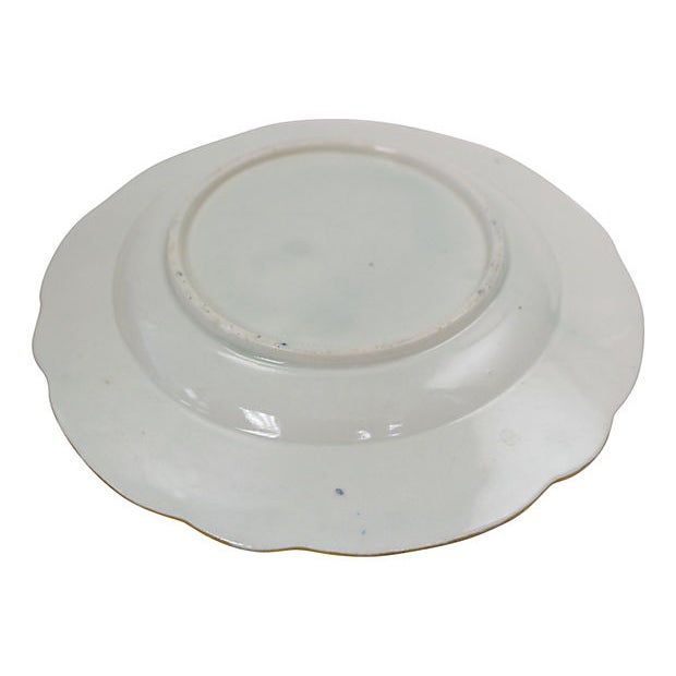 Art Deco Antique English Porcelain Plates, C. 1780 - Set of 7 For Sale - Image 3 of 4