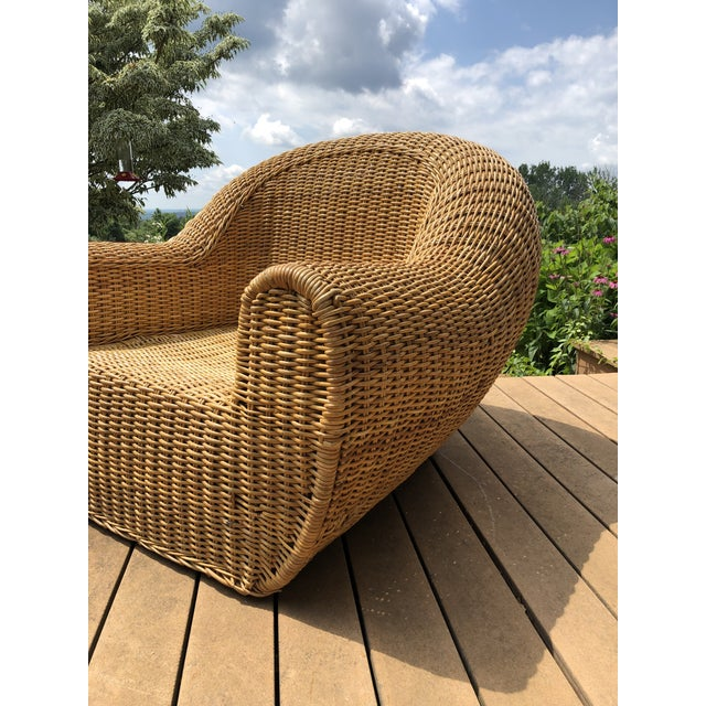 Vintage Wicker Orb Chair For Sale - Image 12 of 13