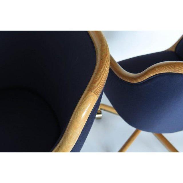 Blue 1970's Pair of Desk Chairs by Ward Bennett for Brickel Associates For Sale - Image 8 of 11