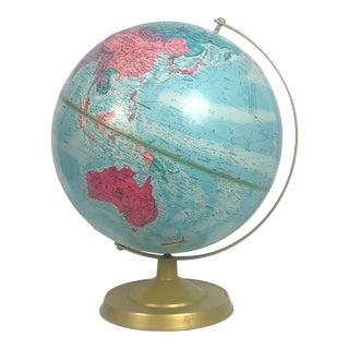 Vintage Replogle World Nation Textured Globe on Stand For Sale