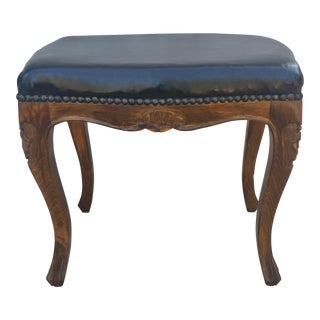 Vintage Mid Century French Style Footstool For Sale