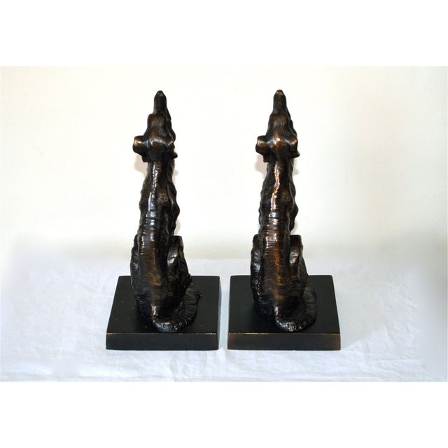 JB Hirsch 1925 Le Loup 'The Wolf' Bookends - 2 - Image 5 of 11