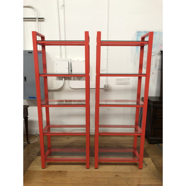 Design Plus Gallery presents a pair of Pilsen Bookcases by Crate & Barrel. Designed by Mark Daniel, a mix industrial...