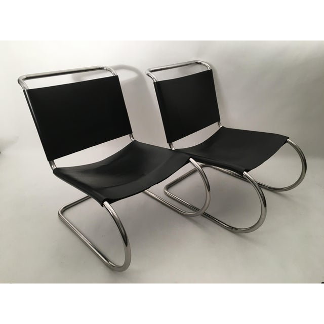 Knoll Pair of Mies Van der Rohe MR Lounge Chairs For Sale - Image 4 of 7